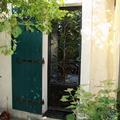 Porte vitrée à motif végétal